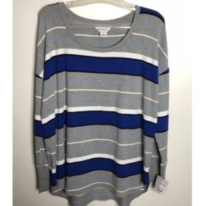 Liz Claiborne Weekend Top XL Striped Long Sleeve